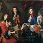 Anton Domenico Gabbiani , Musici e  cantanti del Gran Principe Ferdinando con servo moro, tela, cm. 144x153,
