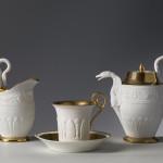 Manifattura di Dagoty e Manifattura Ginori, Servito da colazione, 1810 ca., biscuit e oro,
