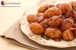 Italian Recipes  fresh small potatoes in red wine