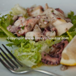 Dinner at Villa Caruso Bellosguardo sea food salad