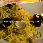 Dinner at Villa Caruso Bellosguardo Spaghetti alle vongole