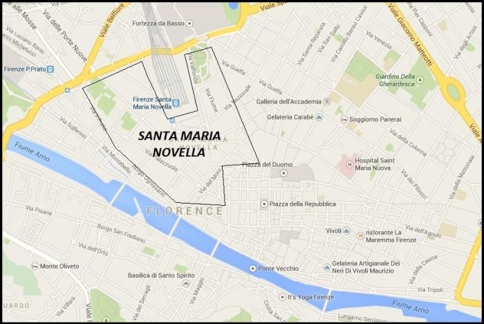 Accommodation in Florence_View of Santa Maria Novella