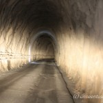 road tunnel inside a marble mountain near Carrara