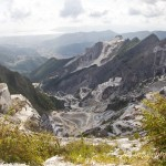 View from the highest marble cave in Carrara
