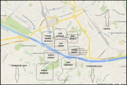 Accommodation in Florence map
