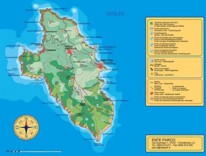Giglio Island Map